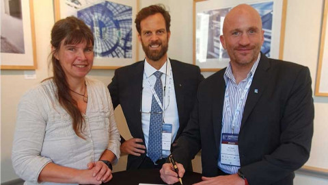 Left: Dr Helen Snaith, Head of Seabed 2030 Global Center, British Oceanographic Data Centre, National Oceanography Centre, UK. Center: Evert Flier, International Coordinator, Norwegian Hydrographic Service and GEBCO Guiding Committee member. Right: Rob Adams, SVP New Ventures in PGS